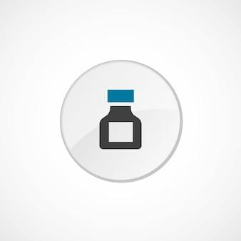 Drogensymbol 2 farbig, grau und blau, kreisabzeichen