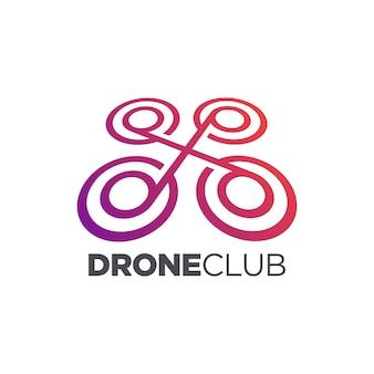 Drohne club icon design