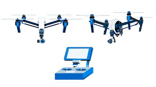 Drohne isoliert vektor-illustration