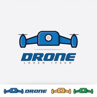 Drohne logo design-vorlage