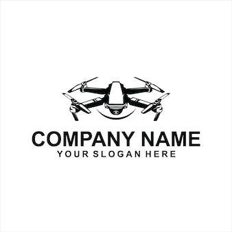 Drohne schwarzer logo-vektor