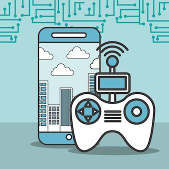 Drohne smartphone steuersignaltechnologie