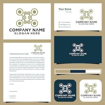 Drohnen-logo-design-vorlage und visitenkarte