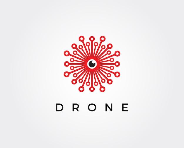 Drohnen-logo-vorlagensymbol. fotografie drohnenvektor. quadrocopter-symbol