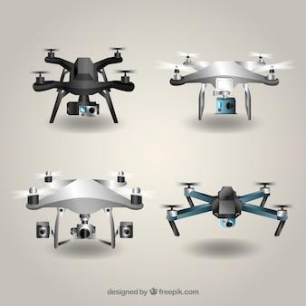 Drohnen-sammlung mit realistischem stil