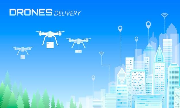 Drohnenbox lieferung ökologie freundliche stadt.