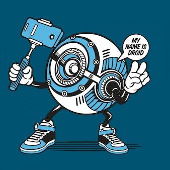 Droids robotic selfie character design