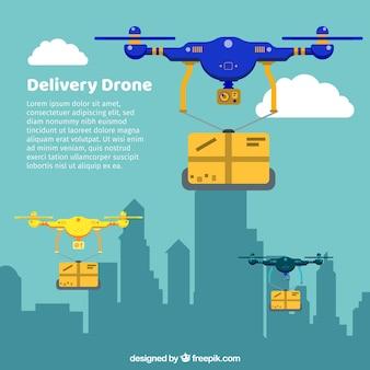 Drone lieferung in der stadt
