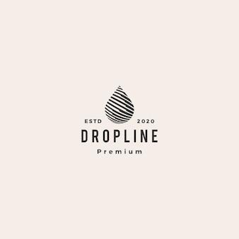 Drop line hipster vintage logo symbol illustration