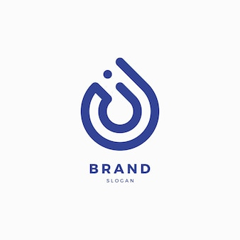 Drop-logo-design-vorlage