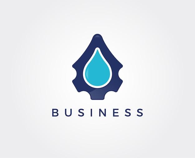 Drop repair logo-vorlage