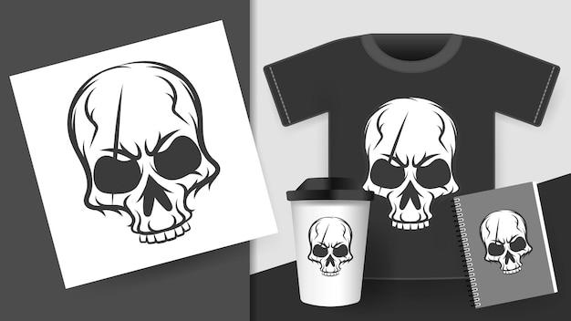 Druck auf t-shirt. vektorillustration für ihre produkte