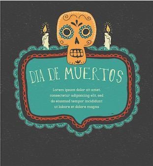 Drucken sie den mexikanischen totenkopf-tag der toten