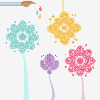 Drucken sie floralen ostern ornament