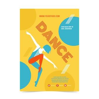 Druckvorlage für tanzunterricht