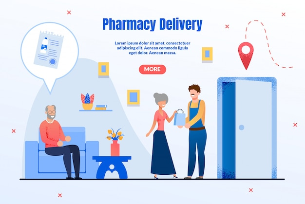 Drugstore goods delivery service-webseite