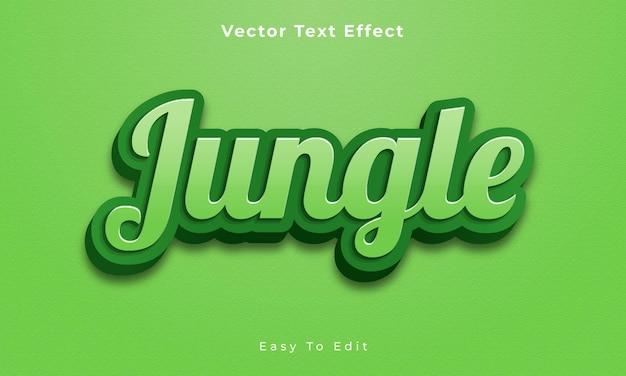 Dschungel bearbeitbarer 3d-texteffekt premium-vektor premium vecto
