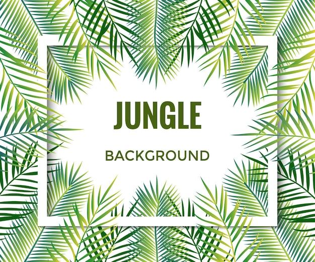 Dschungel-hintergrund bäume und pflanzen vektor-illustration