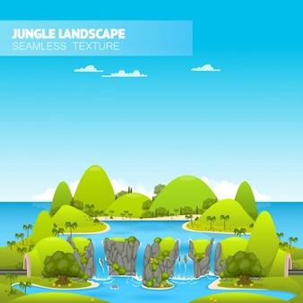 Dschungel-landschaft illustration