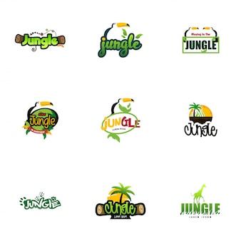 Dschungel-logo-sammlungen