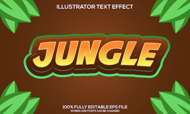 Dschungel-text-effekt-vorlage Premium Vektoren