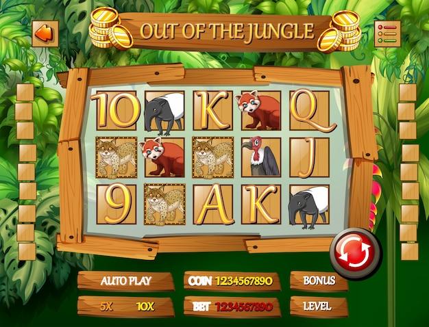 Dschungel-tierspielvorlage