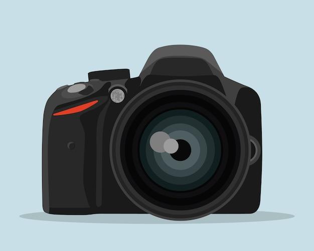 Dslr-fotokamera im flachen stil