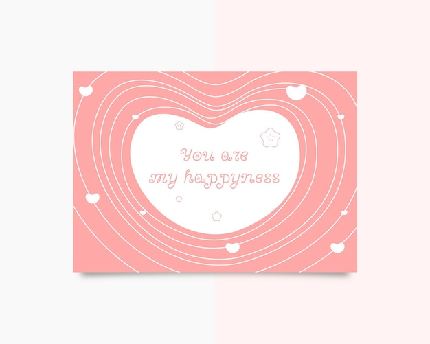 Du bist mein glückgrußkarte