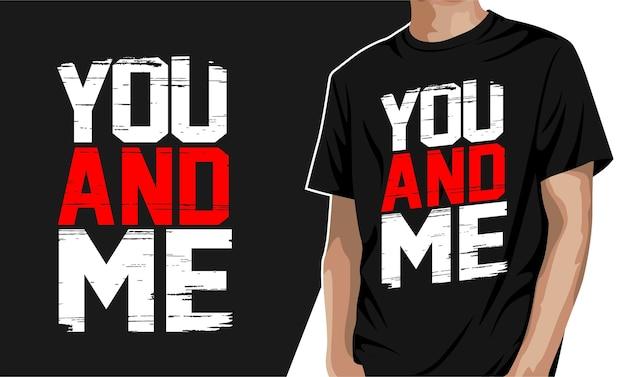 Du und ich - grafisches t-shirt