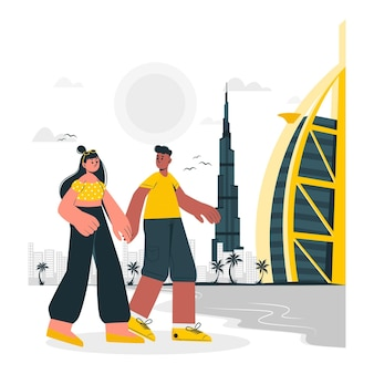 Dubai konzeptillustration