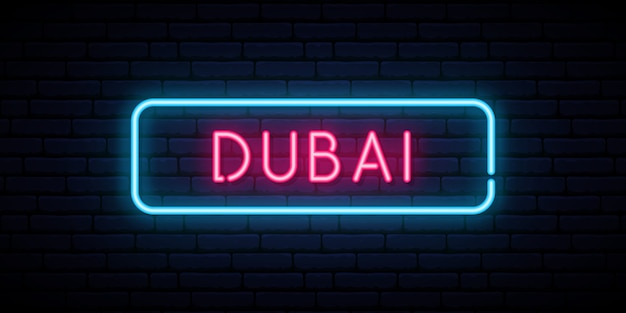 Dubai leuchtreklame.