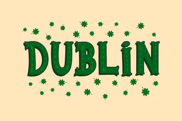 Dublin stadt schriftzug