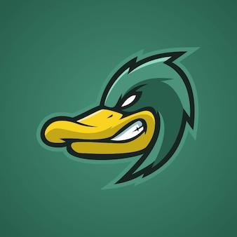 Duck angry esports logo Premium Vektoren