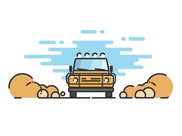 Dünne linie auto flach