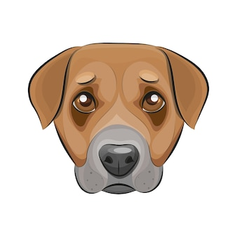 Dünne linie designvorlage logo. süßer hund