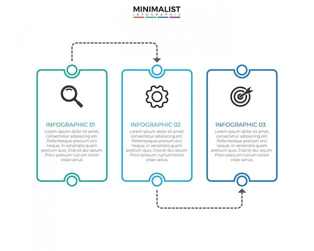 Dünne linie infographik designvorlage