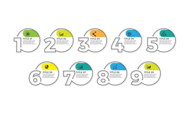 Dünne linie minimale infografik-designvorlage