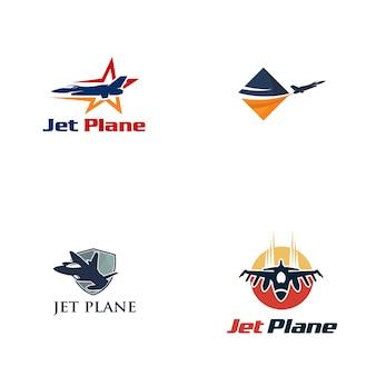 Düsenflugzeug logo design