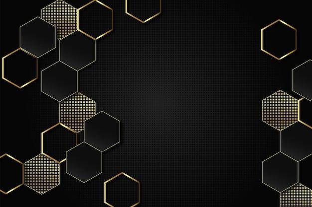 Dunkel mit goldenem hintergrund Premium Vektoren