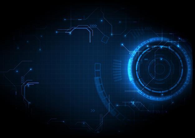 Dunkelblaue futuristische game-circuit-technologie