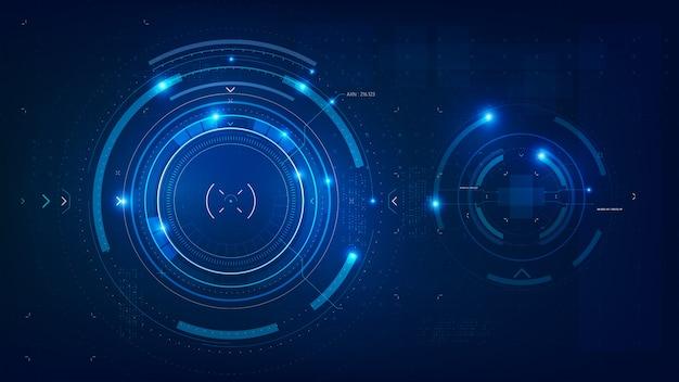 Dunkelblauer abstrakter hintergrund der futuristischen technologie