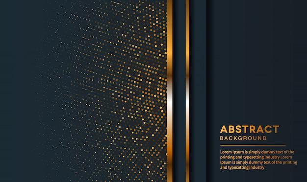 Dunkelblauer abstrakter hintergrund mit schwarzen deckschichten.
