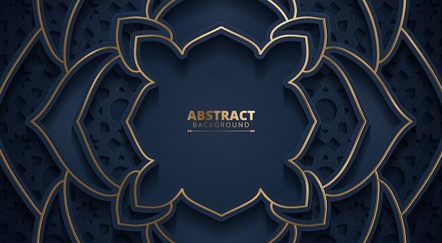 Dunkelblauer abstrakter orientalischer hintergrund.