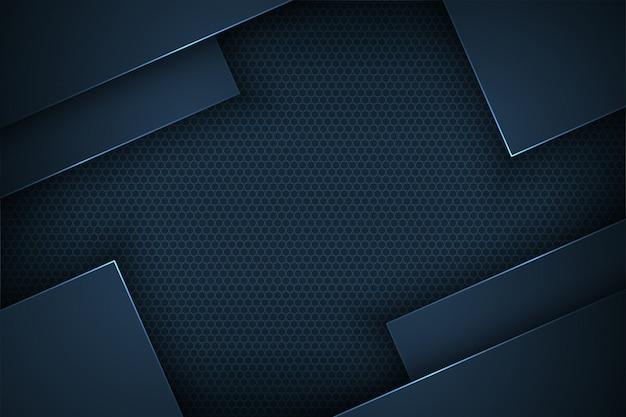 Dunkelblauer abstrakter vektorhintergrund mit überschneidungsmerkmalen.
