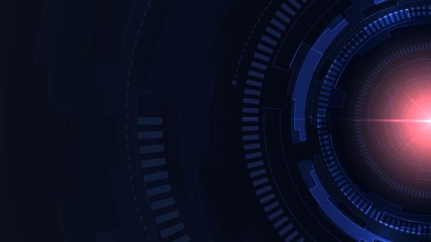 Dunkelblauer high-tech-hintergrund der künstlichen intelligenz