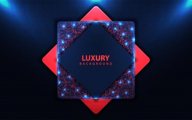 Dunkelblauer hintergrund der luxusüberlappung mit funkelnelement