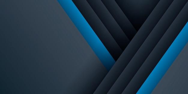 Dunkelblauer hintergrund mit linienelementen