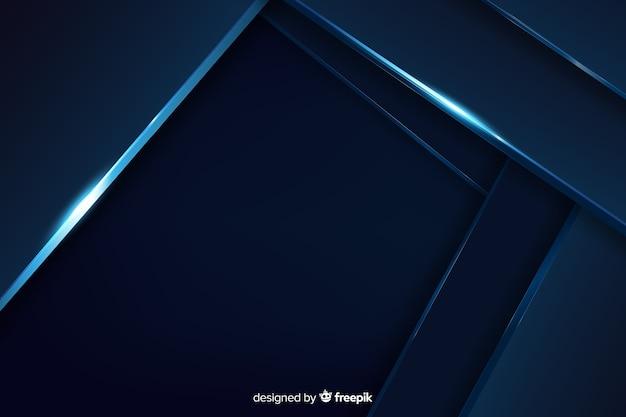Dunkelblauer hintergrund mit metallischem effekt