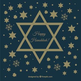 Dunkelblauer hintergrund mit sternen für hanukkah