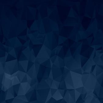Dunkelblauer polygon-hintergrund